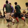 Rencontre football entre les étudiants et enseignants LEA;